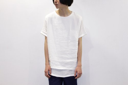 <img class='new_mark_img1' src='https://img.shop-pro.jp/img/new/icons47.gif' style='border:none;display:inline;margin:0px;padding:0px;width:auto;' />THEE / LINEN TEE(WHITE)
