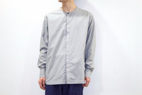 <img class='new_mark_img1' src='https://img.shop-pro.jp/img/new/icons47.gif' style='border:none;display:inline;margin:0px;padding:0px;width:auto;' />house of the very island's... / COLLARLESS SHIRT(STRIPE)