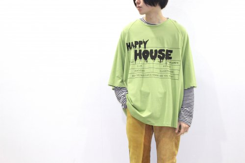 house of the very island's... / OVERSIZE TEE WITH LOGO(GREEN)