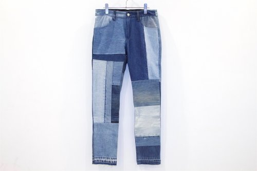 <img class='new_mark_img1' src='//img.shop-pro.jp/img/new/icons2.gif' style='border:none;display:inline;margin:0px;padding:0px;width:auto;' />Children of the discordance / VINTAGE PATCH DENIM PANTS(BLUE・SIZE1) pattern C