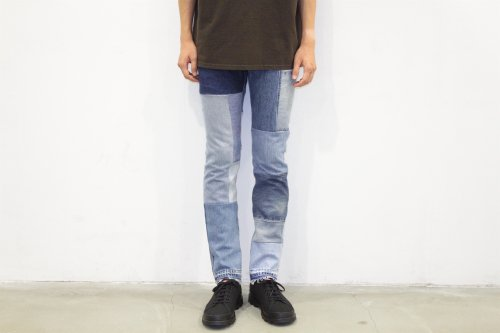 <img class='new_mark_img1' src='https://img.shop-pro.jp/img/new/icons47.gif' style='border:none;display:inline;margin:0px;padding:0px;width:auto;' />Children of the discordance / VINTAGE PATCH DENIM PANTS(BLUE・SIZE2)