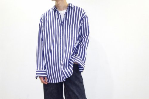 <img class='new_mark_img1' src='//img.shop-pro.jp/img/new/icons2.gif' style='border:none;display:inline;margin:0px;padding:0px;width:auto;' />THEE / wide shirts.(STRIPE)