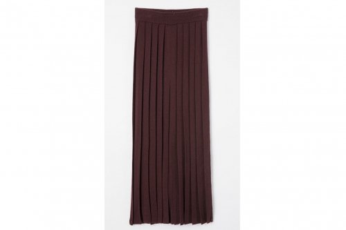 <img class='new_mark_img1' src='//img.shop-pro.jp/img/new/icons47.gif' style='border:none;display:inline;margin:0px;padding:0px;width:auto;' />TAN / PLEATS SKIRT(BURGUNDY)