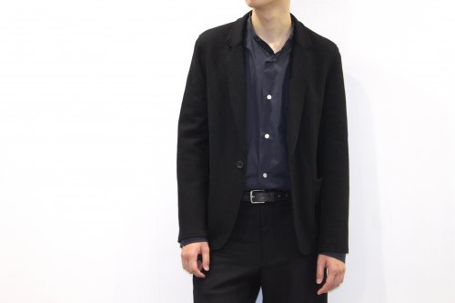 <img class='new_mark_img1' src='//img.shop-pro.jp/img/new/icons47.gif' style='border:none;display:inline;margin:0px;padding:0px;width:auto;' />THEE / wool jersey jacket.(BLACK)