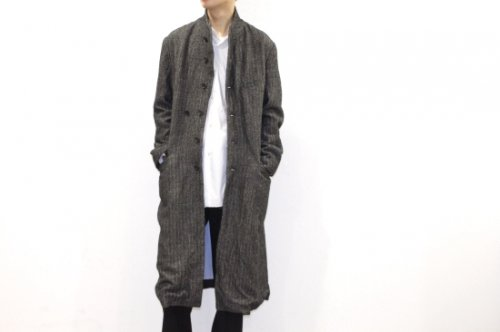 THEE / chester coat.(BLACK)
