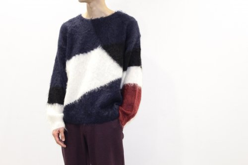 <img class='new_mark_img1' src='https://img.shop-pro.jp/img/new/icons47.gif' style='border:none;display:inline;margin:0px;padding:0px;width:auto;' />Insonnia Projects / MOHAIR PANEL KNIT(NAVY)