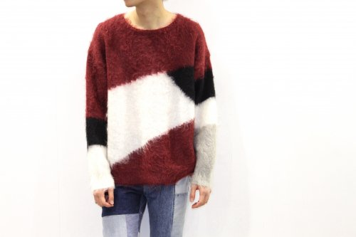 <img class='new_mark_img1' src='https://img.shop-pro.jp/img/new/icons47.gif' style='border:none;display:inline;margin:0px;padding:0px;width:auto;' />Insonnia Projects / MOHAIR PANEL KNIT(WINE)