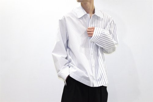<img class='new_mark_img1' src='//img.shop-pro.jp/img/new/icons47.gif' style='border:none;display:inline;margin:0px;padding:0px;width:auto;' />VOAAOV / STRIPE SHIRT BLOUSON(WHITE)