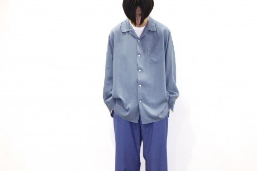<img class='new_mark_img1' src='//img.shop-pro.jp/img/new/icons47.gif' style='border:none;display:inline;margin:0px;padding:0px;width:auto;' />THEE / open collar shirts(BLUE)
