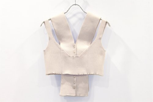 <img class='new_mark_img1' src='https://img.shop-pro.jp/img/new/icons47.gif' style='border:none;display:inline;margin:0px;padding:0px;width:auto;' />TAN / LAYERED RIB CAMISOLE(BEIGE)