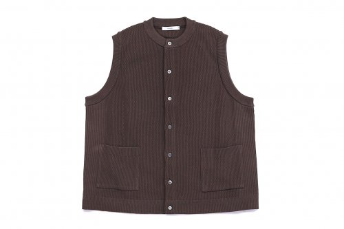 <img class='new_mark_img1' src='https://img.shop-pro.jp/img/new/icons47.gif' style='border:none;display:inline;margin:0px;padding:0px;width:auto;' />YASHIKI / Tsukushi Knit Vest(BROWN)