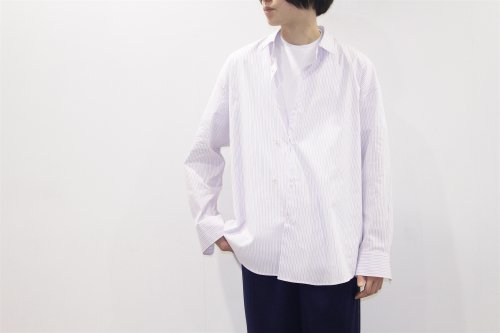 <img class='new_mark_img1' src='//img.shop-pro.jp/img/new/icons2.gif' style='border:none;display:inline;margin:0px;padding:0px;width:auto;' />THEE / double-buttoned shirts.(MULTI STRIPE)