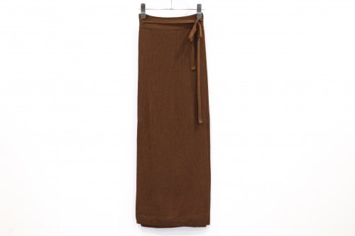 <img class='new_mark_img1' src='https://img.shop-pro.jp/img/new/icons47.gif' style='border:none;display:inline;margin:0px;padding:0px;width:auto;' />TAN / SOFTSHINY WRAPPED SKIRT(BROWN)