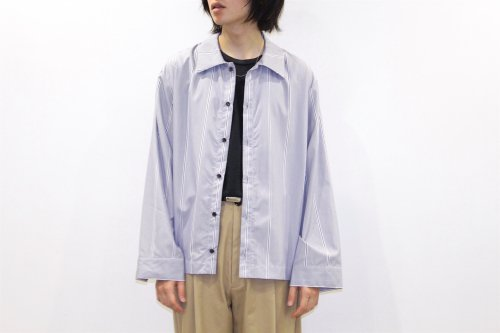 <img class='new_mark_img1' src='//img.shop-pro.jp/img/new/icons47.gif' style='border:none;display:inline;margin:0px;padding:0px;width:auto;' />VOAAOV / STRIPE SHIRT BLOUSON(STRIPE)