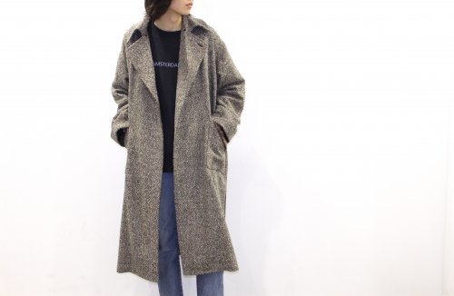 <img class='new_mark_img1' src='https://img.shop-pro.jp/img/new/icons47.gif' style='border:none;display:inline;margin:0px;padding:0px;width:auto;' />ATHA / NEP TWEED MAXI COAT(BLACK)