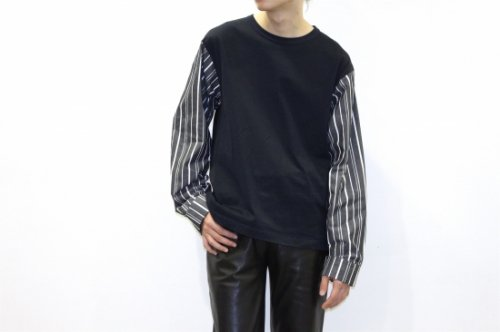 <img class='new_mark_img1' src='https://img.shop-pro.jp/img/new/icons47.gif' style='border:none;display:inline;margin:0px;padding:0px;width:auto;' />THEE / stripe long sleeve t-shirts.(NAVY)