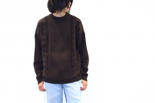 <img class='new_mark_img1' src='https://img.shop-pro.jp/img/new/icons47.gif' style='border:none;display:inline;margin:0px;padding:0px;width:auto;' />YASHIKI / Arare Knit(BROWN)