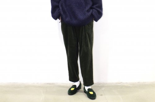<img class='new_mark_img1' src='//img.shop-pro.jp/img/new/icons2.gif' style='border:none;display:inline;margin:0px;padding:0px;width:auto;' />SAYATOMO /Karusan Corduroy Pants(OLIVE)