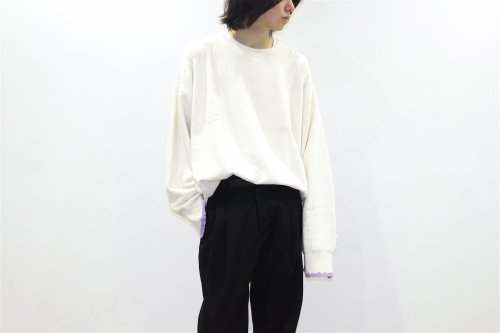 <img class='new_mark_img1' src='https://img.shop-pro.jp/img/new/icons47.gif' style='border:none;display:inline;margin:0px;padding:0px;width:auto;' />stein / OVERSIZED REBUILD SWEAT LS(OFF WHITE)