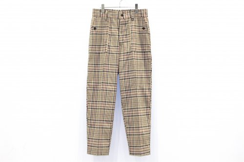 <img class='new_mark_img1' src='https://img.shop-pro.jp/img/new/icons47.gif' style='border:none;display:inline;margin:0px;padding:0px;width:auto;' />ATHA / PL/CO HIGH DENSITY BAKER TROUSERS(BROWN CHECK)