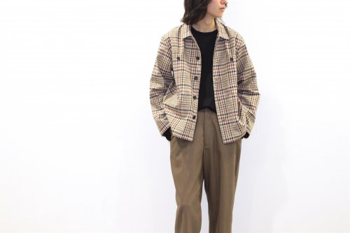 <img class='new_mark_img1' src='https://img.shop-pro.jp/img/new/icons47.gif' style='border:none;display:inline;margin:0px;padding:0px;width:auto;' />ATHA / PL/CO HIGH DENSITY FIELD JACKET(BROWN CHECK)