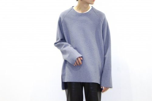 <img class='new_mark_img1' src='https://img.shop-pro.jp/img/new/icons47.gif' style='border:none;display:inline;margin:0px;padding:0px;width:auto;' />VOAAOV / CREW-NECK BIG KNIT(BLUE)
