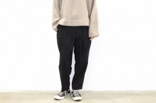 <img class='new_mark_img1' src='https://img.shop-pro.jp/img/new/icons47.gif' style='border:none;display:inline;margin:0px;padding:0px;width:auto;' />SAYATOMO /Karusan Flannel Pants(BLACK)
