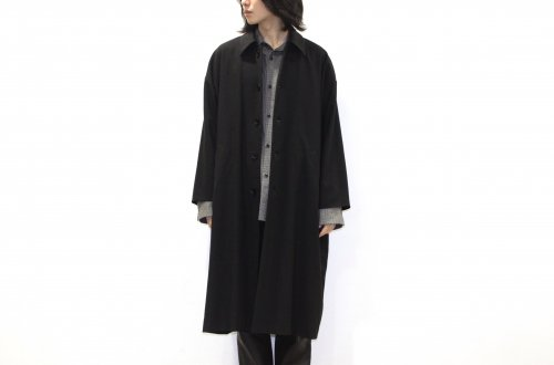 <img class='new_mark_img1' src='https://img.shop-pro.jp/img/new/icons47.gif' style='border:none;display:inline;margin:0px;padding:0px;width:auto;' />VOAAOV / WOOL OVERSIZE COAT(BLACK)