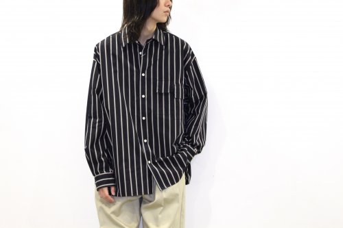 <img class='new_mark_img1' src='https://img.shop-pro.jp/img/new/icons47.gif' style='border:none;display:inline;margin:0px;padding:0px;width:auto;' />no. / U/F STRIPE SHIRT(NAVY)