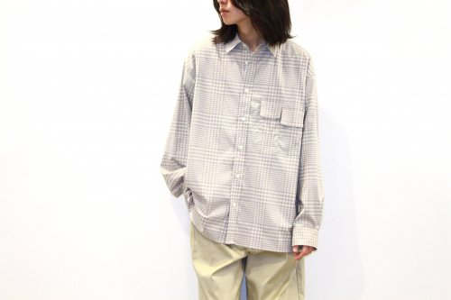 <img class='new_mark_img1' src='https://img.shop-pro.jp/img/new/icons47.gif' style='border:none;display:inline;margin:0px;padding:0px;width:auto;' />no. / U/F CHECK SHIRT(GRAY×BEIGE)