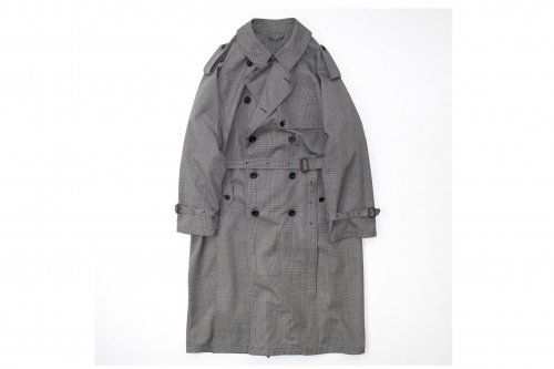<img class='new_mark_img1' src='https://img.shop-pro.jp/img/new/icons47.gif' style='border:none;display:inline;margin:0px;padding:0px;width:auto;' />stein / DOUBLE SHADE TRENCH COAT(GLEN CHECK)