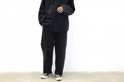 <img class='new_mark_img1' src='https://img.shop-pro.jp/img/new/icons2.gif' style='border:none;display:inline;margin:0px;padding:0px;width:auto;' />stein / EX WIDE HOOKED DENIM JEANS(BLACK)