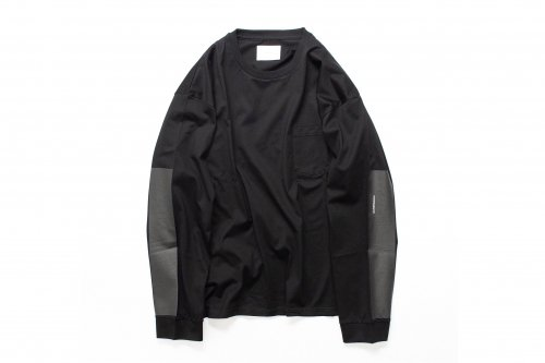 <img class='new_mark_img1' src='https://img.shop-pro.jp/img/new/icons47.gif' style='border:none;display:inline;margin:0px;padding:0px;width:auto;' />stein / OVERSIZED LONG SLEEVE TEE_B(BLACK)