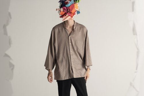 <img class='new_mark_img1' src='//img.shop-pro.jp/img/new/icons20.gif' style='border:none;display:inline;margin:0px;padding:0px;width:auto;' />THEE / kimono sleeve shirts.(CHECK)