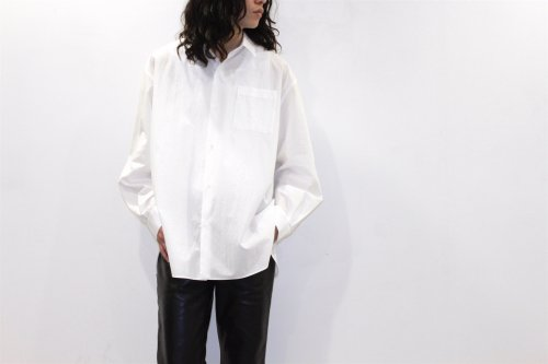 <img class='new_mark_img1' src='https://img.shop-pro.jp/img/new/icons2.gif' style='border:none;display:inline;margin:0px;padding:0px;width:auto;' />Blanc YM / Broad Cloth Shirt(WHITE)