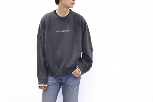 <img class='new_mark_img1' src='https://img.shop-pro.jp/img/new/icons2.gif' style='border:none;display:inline;margin:0px;padding:0px;width:auto;' />stein / OVERSIZED REBUILD SWEAT LS(CHARCOAL)