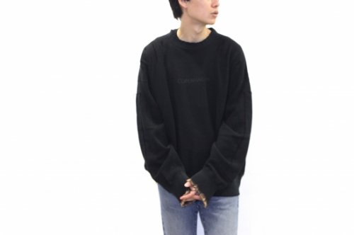 <img class='new_mark_img1' src='https://img.shop-pro.jp/img/new/icons2.gif' style='border:none;display:inline;margin:0px;padding:0px;width:auto;' />stein / OVERSIZED REBUILD SWEAT LS(BLACK)