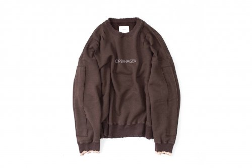 <img class='new_mark_img1' src='https://img.shop-pro.jp/img/new/icons47.gif' style='border:none;display:inline;margin:0px;padding:0px;width:auto;' />stein / OVERSIZED REBUILD SWEAT LS(DARK BROWN)