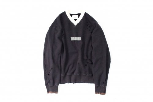 <img class='new_mark_img1' src='https://img.shop-pro.jp/img/new/icons47.gif' style='border:none;display:inline;margin:0px;padding:0px;width:auto;' />stein / ARCHIVE V NECK SWEAT LS(DARK NAVY)