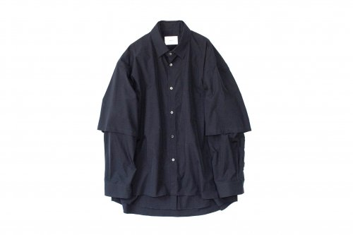 <img class='new_mark_img1' src='https://img.shop-pro.jp/img/new/icons47.gif' style='border:none;display:inline;margin:0px;padding:0px;width:auto;' />stein / OVERSIZED DOUBLE SLEEVE SHIRT(MIDNIGHT)