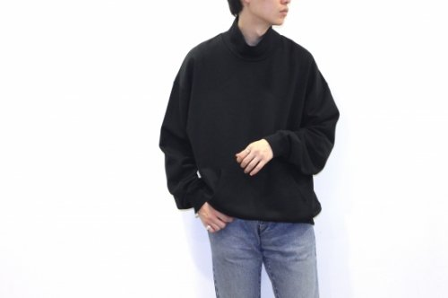 <img class='new_mark_img1' src='https://img.shop-pro.jp/img/new/icons47.gif' style='border:none;display:inline;margin:0px;padding:0px;width:auto;' />no. / MOCKNECK SWEAT(BLACK)