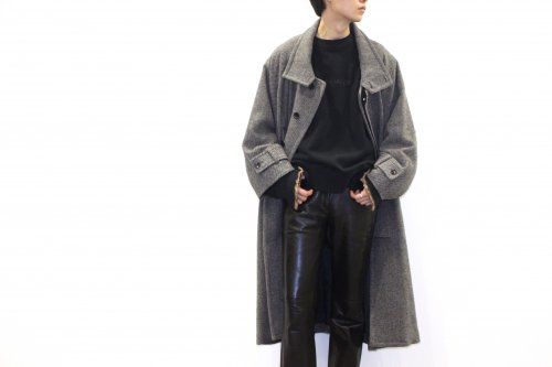 <img class='new_mark_img1' src='https://img.shop-pro.jp/img/new/icons2.gif' style='border:none;display:inline;margin:0px;padding:0px;width:auto;' />VOAAOV / TWEED OVERSIZE STANDCOLLAR COAT(BEIGE)