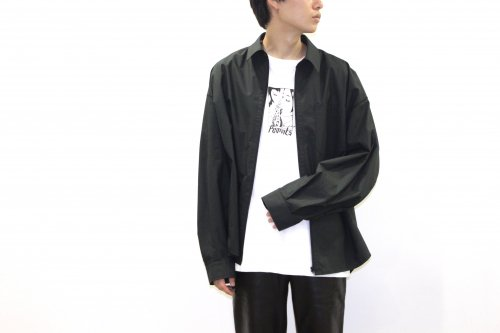<img class='new_mark_img1' src='https://img.shop-pro.jp/img/new/icons2.gif' style='border:none;display:inline;margin:0px;padding:0px;width:auto;' />VOAAOV / OVERSIZE SHIRT BLOUSON(BLACK)