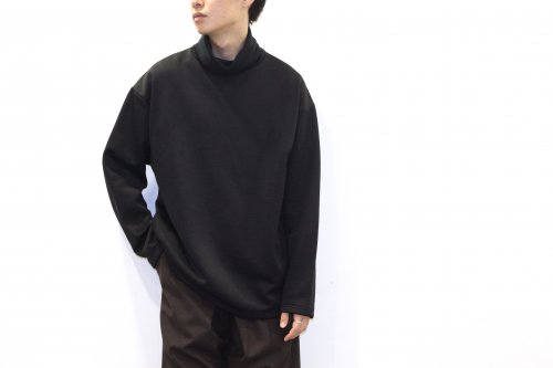 <img class='new_mark_img1' src='//img.shop-pro.jp/img/new/icons2.gif' style='border:none;display:inline;margin:0px;padding:0px;width:auto;' />Blanc YM / Brushed High Neck Tops(BLACK)
