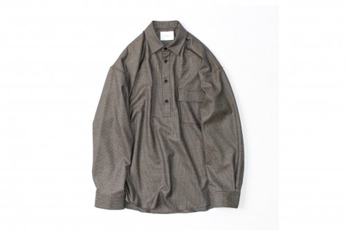 <img class='new_mark_img1' src='https://img.shop-pro.jp/img/new/icons47.gif' style='border:none;display:inline;margin:0px;padding:0px;width:auto;' />stein / OVERSIZED PULLOVER SHIRT(GUN CLUB CHECK)