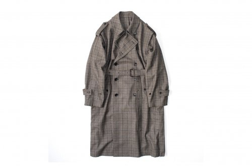 <img class='new_mark_img1' src='https://img.shop-pro.jp/img/new/icons47.gif' style='border:none;display:inline;margin:0px;padding:0px;width:auto;' />stein / DEFORMATION TRENCH COAT(GLEN CHECK)