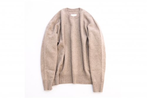 <img class='new_mark_img1' src='//img.shop-pro.jp/img/new/icons47.gif' style='border:none;display:inline;margin:0px;padding:0px;width:auto;' />stein / EX FINE LAMBS CREW NECK KNIT LS(BEIGE)