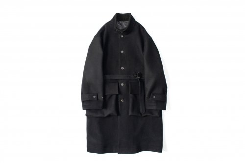 <img class='new_mark_img1' src='//img.shop-pro.jp/img/new/icons47.gif' style='border:none;display:inline;margin:0px;padding:0px;width:auto;' />stein / OVER SLEEVE STAND COLLAR COAT(BLACK)