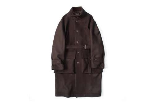 <img class='new_mark_img1' src='//img.shop-pro.jp/img/new/icons47.gif' style='border:none;display:inline;margin:0px;padding:0px;width:auto;' />stein / OVER SLEEVE STAND COLLAR COAT(BROWN)