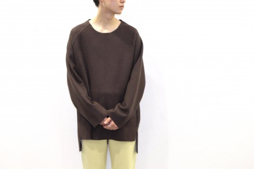 <img class='new_mark_img1' src='//img.shop-pro.jp/img/new/icons2.gif' style='border:none;display:inline;margin:0px;padding:0px;width:auto;' />VOAAOV / CREW-NECK BIG KNIT(BROWN)